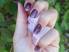 Glitter Grape #burgundy #mani #polish #nailart - bellashoot.com