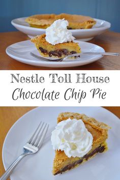 The Art of Comfort Baking: Nestle Toll House Chocolate Chip Pie. A tradition in our family every Thanksgiving and Christmas! Buttery and rich and delicious!