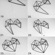 Geometric Himmeli Heart Tutorial