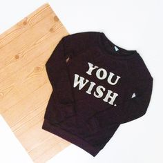 """""""You Wish"""" Red and Black Heather Sweater. So cute and so chic. Loosely knit and not thick. Wear it for any season. A mix or red and black with silver foil lettering.   • BECAUSE OF LIGHTING, PLEASE BE AWARE THAT COLOR OF THE ACTUAL ITEM MAY SLIGHTLY VARY FROM THE PHOTOS • MAKE ALL OFFERS USING THE OFFER BUTTON  • NO TRADES Cloudless Sweaters Crew & Scoop Necks"""