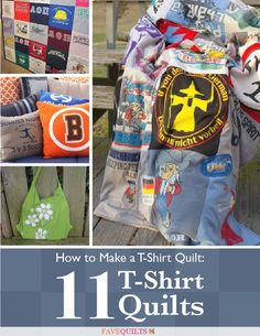 How to Make a T-Shirt Quilt: 11 T-Shirt Quilts (free e-book download)