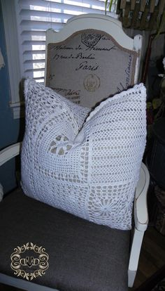 Goodwill pillow covered in a sweater. Great reuse of used up items