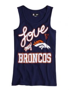 NFL® Denver Broncos Tank- Just ordered for both my girls. Getting ready for football season! Denver Broncos Gear, Denver Broncos Football, Football Love, Broncos Fans, Football Baby, Football Season, Football Sister, Football Stuff, Football Players