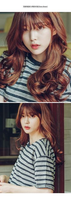 New Hair Color Korean Korea Ideas My Hairstyle, Hairstyles With Bangs, Trendy Hairstyles, Korean Hairstyles, Korean Beauty, Asian Beauty, Bora Lim, Ulzzang Hair, Korean Ulzzang