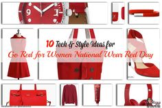 10 Tech and Style Ideas for Go Red for Women National Wear Red Day #GoRed