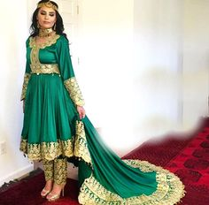 #afghani #green #nekah #wedding #dress
