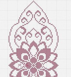 Crochet Diagram, Crochet Motif, Crochet Doilies, Doily Patterns, Embroidery Patterns, Crochet Patterns, Cross Stitch Designs, Cross Stitch Patterns, Crochet Table Runner Pattern