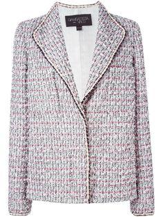 Giambattista Valli buttoned tweed jacket, Women's, Size: 48, White, Silk/Cotton/Polyamide/Virgin Wool
