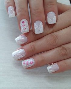 54 photos of french nails for all occasions Minimalist Fashion Women, Office Fashion Women, Flower Nail Art, Best Homemade Dog Food, Dog Treat Recipes, Purse Styles, Cookies Et Biscuits, French Nails, Fun Nails