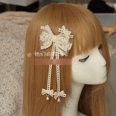 >> Click to Buy << Princess sweet lolita Hairpin Manual butterfly hairpin DIY original hair lace female line forest headdress Lolita bell    GSH064 #Affiliate