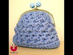 Crochet Clutch Pattern, Crochet Coin Purse, Crochet Patterns, Crochet Bags, Handmade Bags, Magenta, Wallet, Purses, Knitting