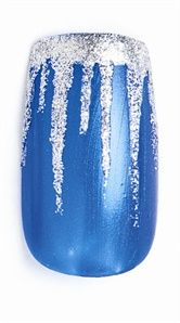 Winter Icicle nails