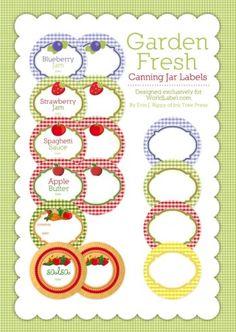 Free Printable Canning Jar Labels - Saving Dollars & Sense | Personal Finance Blog