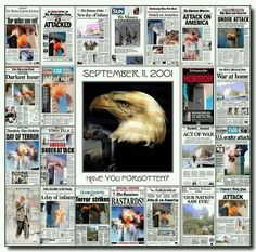 Newspaper  front pages from around the World on 9/11