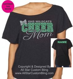 Hey, I found this really awesome Etsy listing at https://www.etsy.com/listing/255867327/custom-team-cheer-mom-chevron-glitter