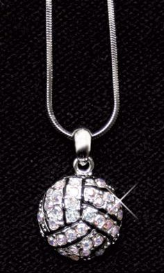 • This all crystal necklace is perfect for the fan in your family! • It is adorned with brilliant crystals that sparkle in the light! • The | Midwest Volleyball Warehouse
