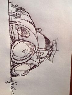 1956 oval window beetle sketch