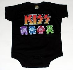 Rock Band Baby Clothes | Kiss Hard Rock Heavy Metal Band Baby Infant Onesie Clothing 18 24 ...