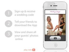 Brilliant. Wedding Snap is an app that collects your guests' photos directly from their phones during the wedding and uploads them into an online album.