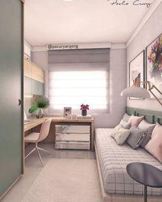 Small Bedroom Designs, Small Room Design, Room Design Bedroom, Small Room Bedroom, Home Room Design, Home Office Design, Bedroom Decor, House Design, Box Room Bedroom Ideas