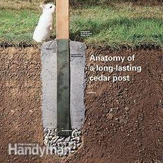 <p>Did your fence posts rot at the bottom? Here's how to install new ones—and avoid the problems that made your old posts rot.</p>