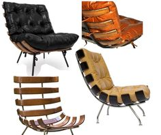 Poltrona Costela,  do designer Martin Eisler, austríaco que iniciou sua carreira quando se mudou para a Argentina  Criada em 1955