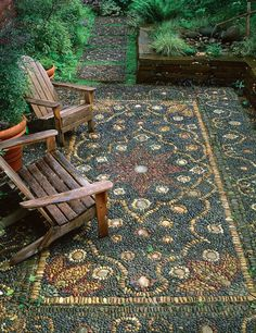 20 magnificent diy mosaic garden decorations for your inspiration - HomeSpeciall. - 20 magnificent diy mosaic garden decorations for your inspiration – HomeSpecially - Garden Steps, Garden Paths, Quick Garden, Backyard Patio, Backyard Landscaping, Landscaping Ideas, Backyard Ideas, Landscape Edging Stone, Garden Stepping Stones