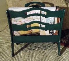 Vintage Mid Century Green Magazine Rack By Butler Cabinet Makers Antique