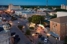 Downtown Bryan at Twilight