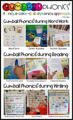 Gumball Phonics™ - The K Files Anchor Activities, First Grade Activities, Word Work Activities, Kindergarten Activities, Teaching Strategies, Instructional Strategies, Teaching Resources, Teaching Ideas, Just Right Books