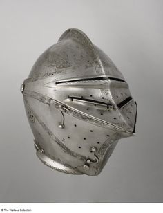 Close-helmet  Unknown Artist / Maker  North Germany  c. 1560  Iron or steel and leather  Weight: 3 kg  A168  European Armoury I