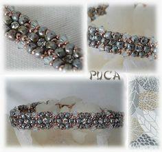 Beautiful Puca bracelet with new Matubo 7/0 seed beads.