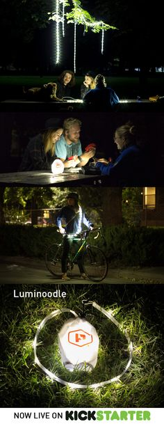 Luminoodle™ is a 5-foot strand of ultra-bright, waterproof, and USB-powered LEDs designed with various, easy-to-use mounting solutions included in the bag. At 10-20 times brighter than your average Christmas lights, it's the most adaptable, intuitive, and portable string lighting system ever created.