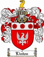 Linton Coat of Arms. Symbolises authority, grace, protection and man of action by the symbols used of the family crest. The colour red meaning warrior, white for wisdom and gold for respect.