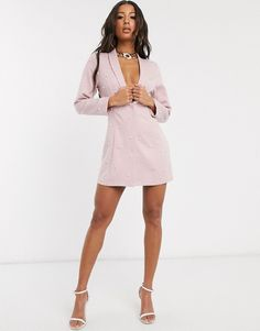 Buy Saint Genies pearl embellished blazer dress in blush at ASOS. With free delivery and return options (Ts&Cs apply), online shopping has never been so easy. Get the latest trends with ASOS now. Diy Wedding Program Fans, Blazer Dress, Shirt Dress, Asos, Must Haves, Latest Trends, Cold Shoulder Dress, Blush, Mini Skirts