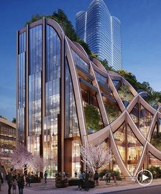 Heatherwick Studio Design Heatherwick Studio, the London-based design and architecture firm led by Thomas Heatherwick, has revealed plans for a giant 'Planted Pergola' that will form the focal point of Tokyo's redeveloped 'Toranomon-Azabudai' district. Architecture Company, Plans Architecture, Modern Architecture House, Amazing Architecture, Architecture Design, Commercial Architecture, Concept Architecture, Building Exterior, Building Design