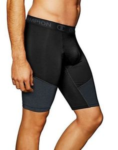 9d42da685502 Champion PowerFlex 9 Mens Solid Compression Shorts Black Large   You can  get additional details at the image link.