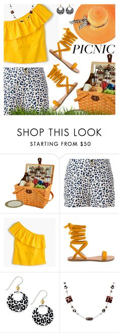 """PICNIC"" by shoaleh-nia ❤ liked on Polyvore featuring Picnic at Ascot, MICHAEL Michael Kors, J.Crew, Raye, Jody Coyote and Catherine Catherine Malandrino"