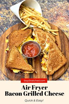 The best grilled cheese sandwich is made in the air fryer! You can make any toasted sandwich and load it up with your favorite toppings like bacon, ham, mayo, and tomato. Air Fryer Oven Recipes, Air Fry Recipes, Air Fryer Dinner Recipes, Healthy Recipes, Rainbow Grilled Cheese, Best Grilled Cheese, Goat Cheese Sandwiches, Cheese Bites, How Sweet Eats