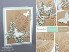 """Stampin'Up! - Carte pour la fête des Grands Mères """"Set Simplement Papillons"""
