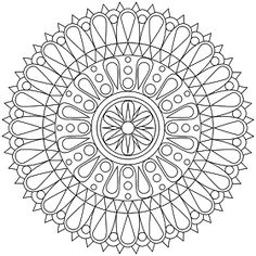 Dont Eat the Paste: New Mandala Coloring Page