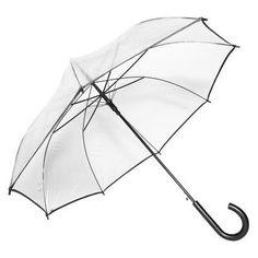 Elite Rain Umbrella Auto-Open Clear Umbrella - Black - RAC-BLK