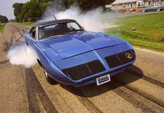 1970  Blue Plymouth Superbird