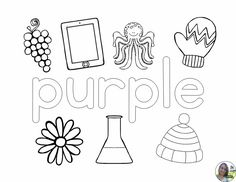 The 9 coloring pages in this packet each feature a single color name and an assortment of clip art for students to color accordingly.    Featured colors are:  Red  Orange  Yellow  Green  Blue  Purple  Pink  Brown  Black