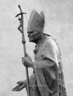 Rzeźba Pope John Paul II przez Zemla (błogosławiony John Paul lub - Obraz stockowy: 30670073