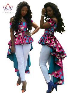 BRW Bazin Riche Tuxedo Dress Fashion African Wax Cotton Print Dresses for Women Dashiki Plus Size African Women Clothes – No-Gender Latest African Fashion Dresses, African Dresses For Women, African Attire, African Women, Dress Fashion, African Clothes, Fashion Clothes, Women's Fashion, African Tops