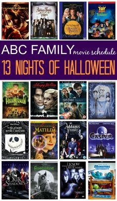 2015 abc family 13 nights of halloween movie schedule - Kid Friendly Halloween Movie