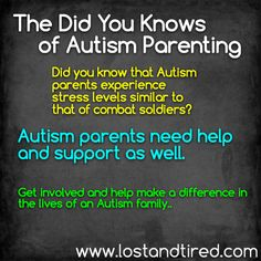 """The Did You Knows of #Autism #Parenting: Stress Levels"" The Did You Knows of #Autism #Parenting: Stress Levels http://www.lostandtired.com/2014/08/17/the-did-you-knows-of-autism-parenting-stress-levels/ #Autism #Family #SPD #SpecialNeedsParenting"