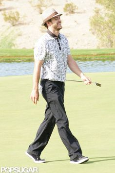 Justin Timberlake Playing Golf in Shriners Open 2012