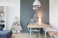 Scandinavian-style-Christmas-decor-for-the-contemporary-dining-room-with-wooden-diy-Christmas-tree-coupled-with-small-stars-hanging-on-the-rustic-branch-1024x679.jpg 1,024×679 pixels